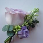 rose lilac lisianthus buttonhole